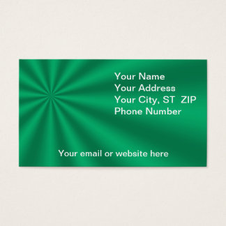 Colorful Green Starburst Business Cards