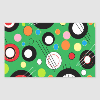 Colorful Green Rectangular Stickers
