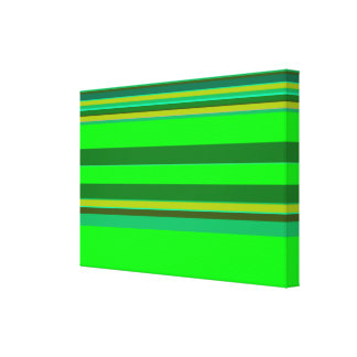 Colorful Green Stripe Pattern Customized Designer Canvas Print