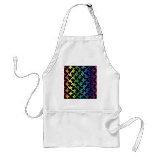 Colorful grid background adult apron