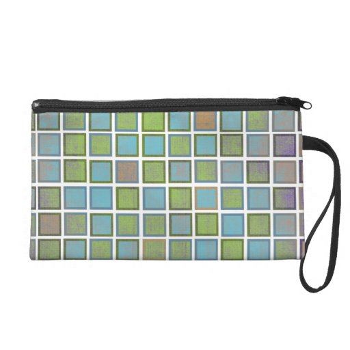 Colorful Grid Pattern Wristlet