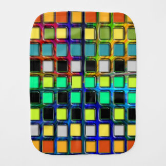 Colorful Grid-Tiled by Shirley Taylor Burp Cloth