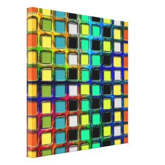 Colorful Grid-Tiled by Shirley Taylor Canvas Print
