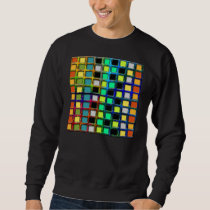 Colorful Grid-Tiled Sweatshirt