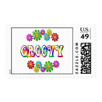 Colorful Groovy Postage
