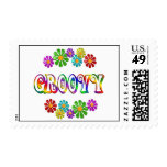 Colorful Groovy Postage Stamp