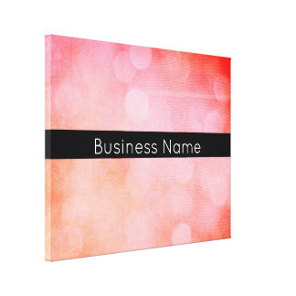 Colorful, Grunge Bokeh Lights with Business Name Canvas Print