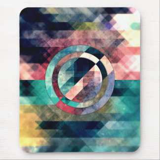 Colorful Grunge Geometric Abstract Mouse Pad