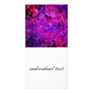 Colorful Grunge,hot pink Photo Card