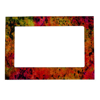 Colorful Grunge,hot red Magnetic Photo Frame