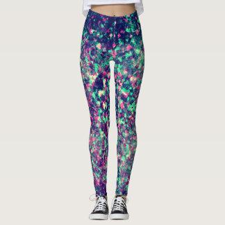Colorful Grunge Kaleidoscope Pattern Leggings