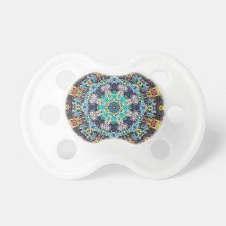 Colorful Grunge Mandala Pacifier