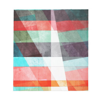 Colorful Grunge Stripes Abstract Notepad