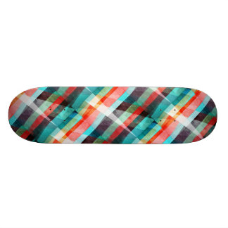 Colorful Grunge Stripes Abstract Skateboard Deck