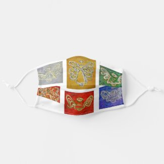 Colorful Guardian Angel Art Custom Face Masks