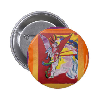 Colorful guardian angel button