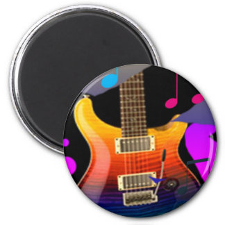 Colorful Guitar - Rock On! Magnet