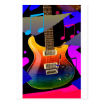 Colorful Guitar - Rock On! Postcard