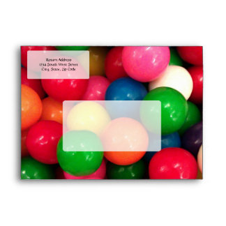 Colorful Gum Ball Candy Envelope