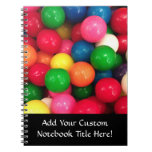Colorful Gum Ball Candy Note Book
