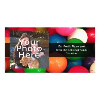 Colorful Gum Ball Candy Customized Photo Card