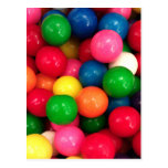 Colorful Gum Ball Candy Postcards