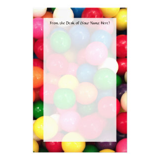 Colorful Gum Ball Candy Custom Stationery