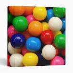 Colorful Gumballs 3 Ring Binders