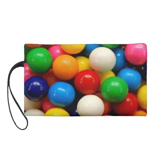 Colorful Gumballs Wristlet Clutches
