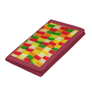 Colorful gummi bear candy trifold wallet