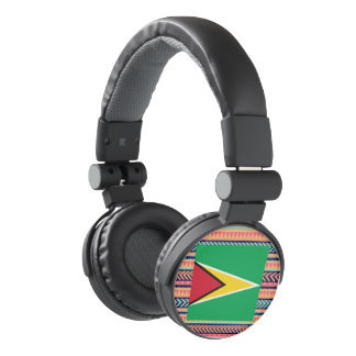 Colorful Guyana Flag Box Headphones