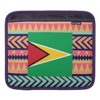Colorful Guyana Flag Box Sleeves For iPads