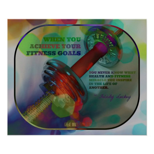 Colorful Gym Poster with Weights 006