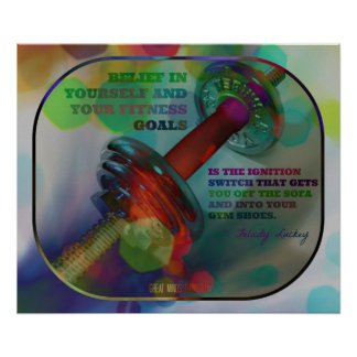 Colorful Gym Poster with Weights 009