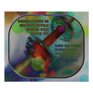 Colorful Gym Poster with Weights 011