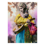 "Colorful Gypsy Girl 20"" x 28"" Poster"