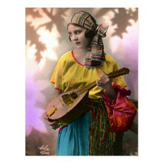 Colorful Gypsy Girl Postcard