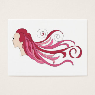 Colorful hair business card