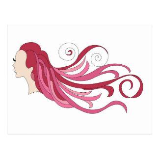 Colorful hair postcard