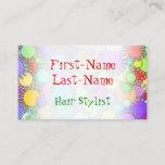 [ Thumbnail: Colorful Hair Stylist Business Card ]