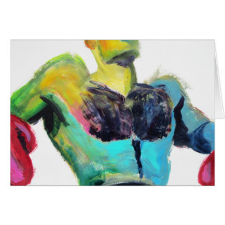 Colorful Hairy Boxer Card