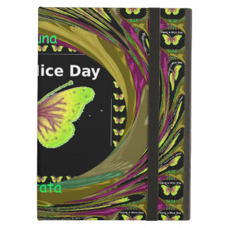 Colorful Hakuna Matata Have a Nice Day Butterflies iPad Air Cover