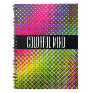Colorful Halftone Notebook