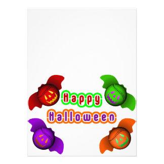 Colorful Halloween Baseball Bats Announcements