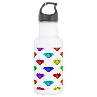 Colorful Halloween Baseball Bats Pattern Stainless Steel Water Bottle