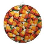 Colorful halloween candy corn print dart boards