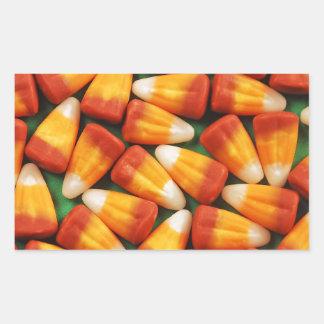 Colorful halloween candy corn print rectangular sticker