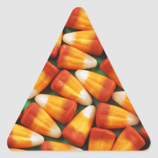 Colorful halloween candy corn print triangle sticker