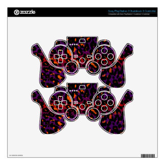 Colorful Halloween Leopard Spots Pattern PS3 Controller Decal