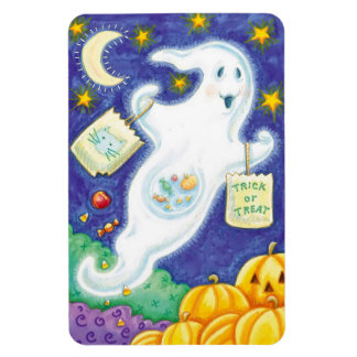 Colorful Halloween Magnet with Halloween Ghost